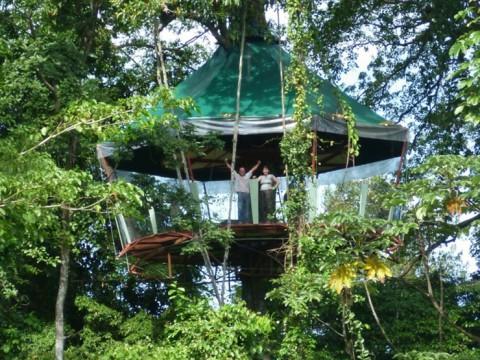 深いジャングルに浮かぶデッキに泊まりジャングル探索を楽しむ、コスタリカ「Nature Observatorio」