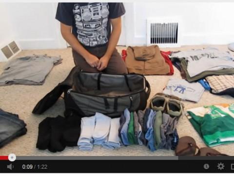 旅行者は必見!絶対に入らないと思うほど大量の荷物をバッグに完璧パッキング