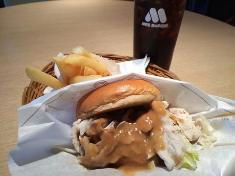 タイのモスバーガーだけで食べられる「しゃぶしゃぶバーガー」が美味しい