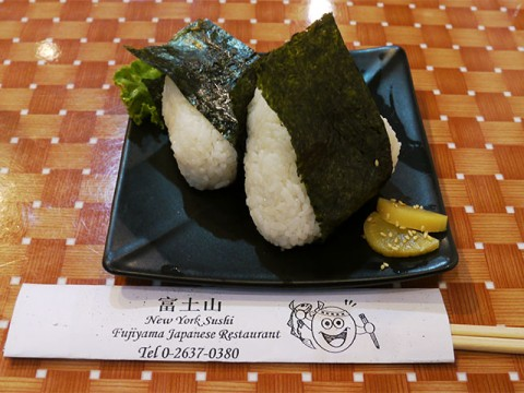 タイの格安和食で失敗したくない場合に食べるべき料理「おにぎり」