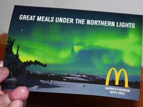 北極にいちばん近いマクドナルドに行くともらえる「ここだけ」の限定プレゼントが嬉しい