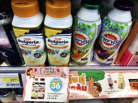 タイに行ったらコンビニにヨーグルトを買いに行こう / 絶品ヨーグルトだらけ