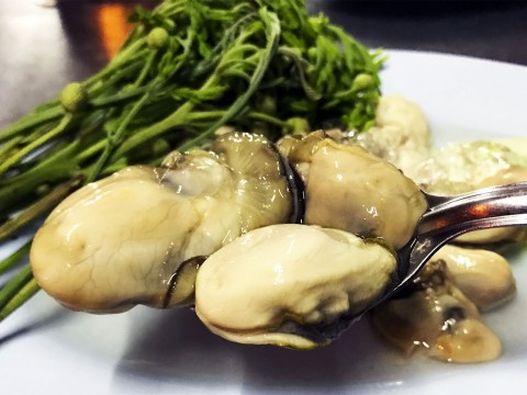 タイの首都バンコクでは生牡蠣を屋台で食べることができる件