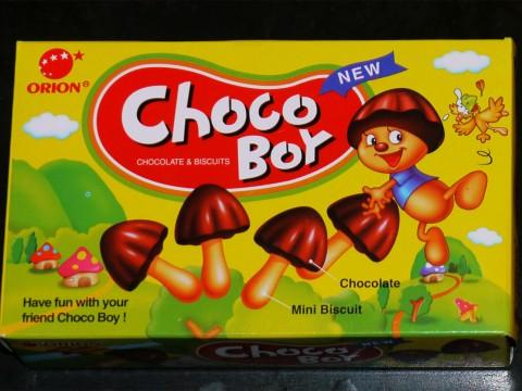 日本にお菓子の「きのこの山」みたいな「チョコボーイ」が韓国で大人気