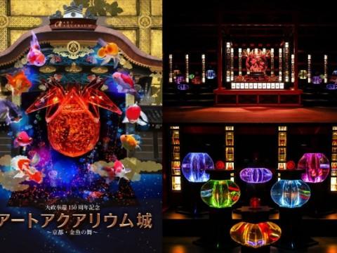 金魚が織り成す豪華絢爛な和の水族アート / 京都・二条城で史上最大規模アートアクアリウム開催