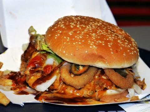 バーガーキングでオリジナルハンバーガーを作った結果 → クリーチャーになった(笑)