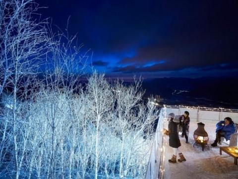 冬山の素晴らしき夜景! 星野リゾート トマムで幻想的な「霧氷テラス」ライトアップを初実施