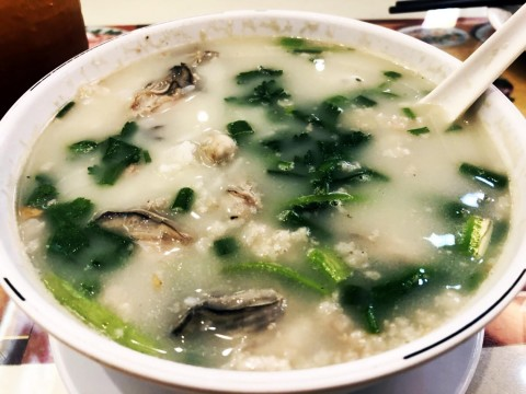 【香港グルメ】香港の朝食に牡蠣のお粥を食べるという選択肢 / 美味いし健康的で感動